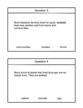 R 9.2 Identify Bold Word Alabama Alternate Assessment Extended Standards