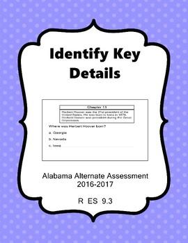 R 9.3 Identify Key Details  NEW Extended Standards Alabama