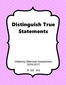 R 9.5  NEW Extended Standards Alabama Alternate Assessment