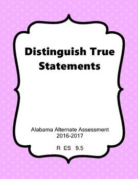 R 9.5  NEW Extended Standards Alabama Alternate Assessment