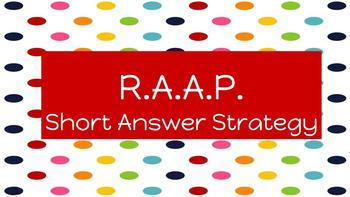 R.A.A.P. Writing Practice Worksheet and Answer Key