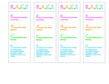 R.A.C.E Bookmarks