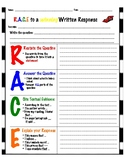 R.A.C.E Constructed Response Writing Template