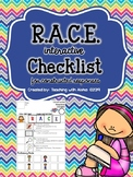 R.A.C.E. Interactive Checklist for Constructed Response Writing