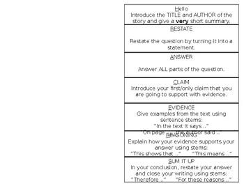 R.A.C.E.R.S. Strategy Response Foldable