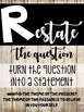 R.A.C.E. Reading Response Posters