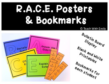 R.A.C.E. Response Posters and Bookmark