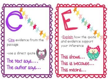 R.A.C.E.S. Extended Response Mini Posters