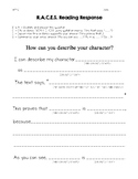 R.A.C.E.S. Reading Response - Character Trait