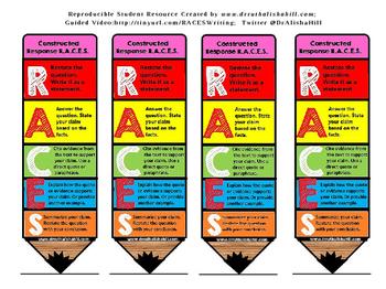R.A.C.E.S. Strategy Bookmark