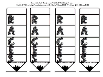 R.A.C.E.S. Strategy with Writing Frame (Black and White)