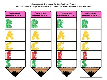 R.A.C.E.S. Strategy with Writing Frame (Color Coded)