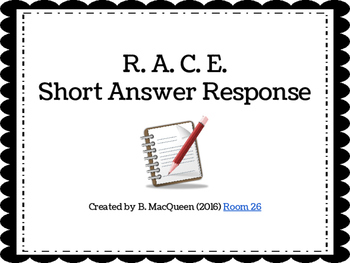 R. A. C. E. Short Answer Response