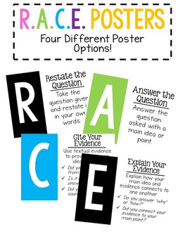 R.A.C.E. Short Response Posters