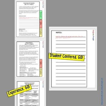 R.A.C.E WRITING STRATEGY PAPERLESS DIGITAL NOTEBOOK FOR GOOGLE DRIVE