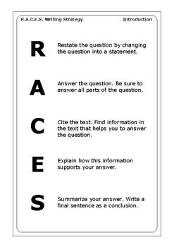 R.A.C.E.S. Writing Strategy Grade 3 (World History)
