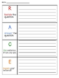 R.A.C.E. Writing Strategy Graphic Organizer