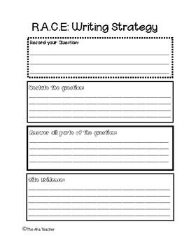 R.A.C.E Writing Strategy: Graphic Organizer