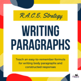 R.A.C.E. Writing Strategy - Infographic poster, lesson, & graphic organizer