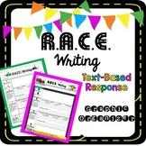 R.A.C.E. Writing Text-Based Response Graphic Organizer