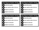 R.A.D.D. Reading Response Writing Strategy for desks