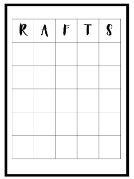 R.A.F.T.S Poster & Graphic Organizer for students