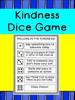 R.A.K. Kindness Dice Game- February 17th Kindness Day