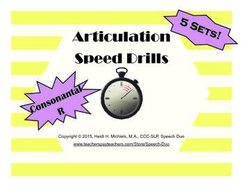 Consonantal /R/ Artic Speed Drill SET