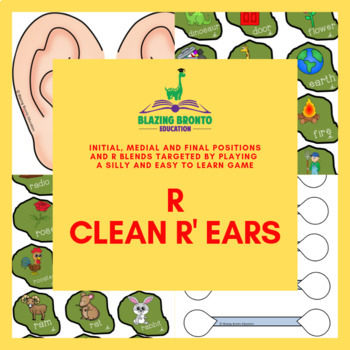 R Articulation   Clean R' Ears   Initial, medial and final   Speech Therapy