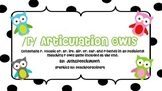 R Articulation Owls (consonant r, vocalic r, and blends in all positions)