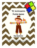 """R"" Articulation Puzzle Pack: Fall Theme"