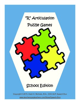 """R"" Articulation Puzzle Pack: School Theme"