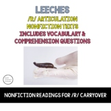 Vocalic R Articulation Reading & Vocalic R Sentences - Bloodsuckers - Leeches