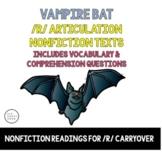 Vocalic R Articulation Reading & Vocalic R Sentence - Bloodsuckers - Vampire Bat