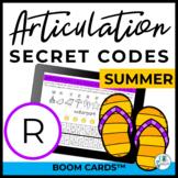 R Articulation Secret Codes BOOM Cards - Summer | Speech |