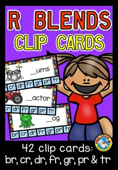 R BLENDS CLIP CARDS: PHONICS TASK CARDS: R BLENDS ACTIVITIES: BLENDS CENTER