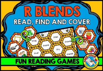 R BLENDS GAME: PHONICS READING CENTERS: BLENDS READING GAMES: BLENDS ACTIVITIES
