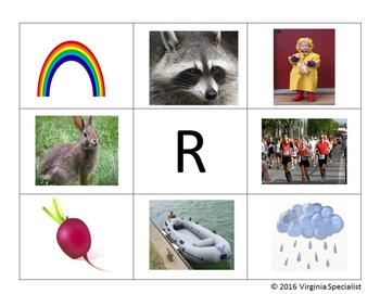 """Beginning Sound - """"R"""" Word Matching Mats"""