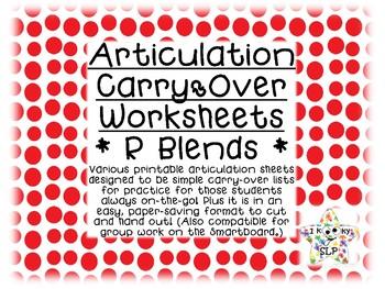 Prevocalic R-Blend Articulation Carryover Practice Bundle