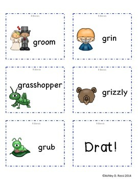 R Blends Articulation Game for Speech Therapy