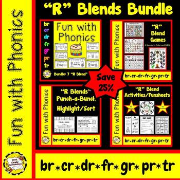 R Blend BUNDLE (br, cr, dr, fr, gr, pr, tr)  SAVE 25%