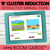 R Blend Cluster Reduction Interactive Minimal Pairs | Boom Cards™
