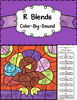 R Blends Color by Sound ~ Thanksgiving Turkey