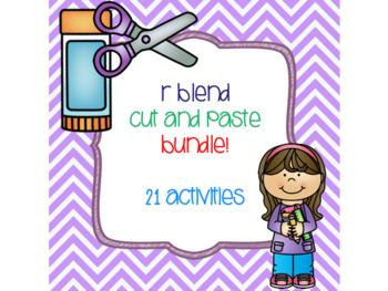 R Blend Cut and Paste Bundle! {21 activities}