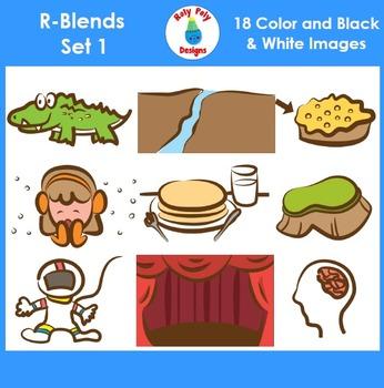 R-Blend Phonics Clip Art Set 1