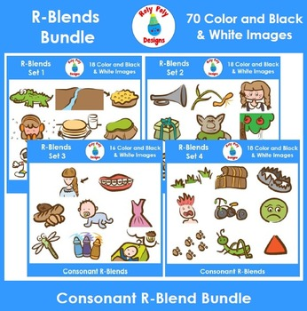 R-Blend Phonics Clip Art Bundle