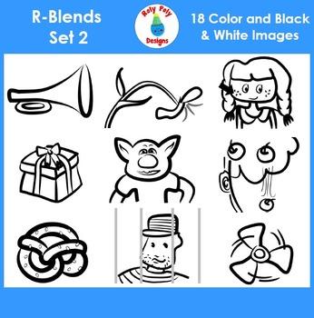R-Blend Phonics Clip Art Set 2