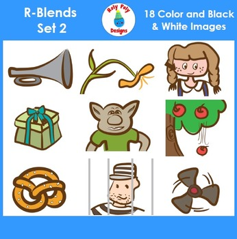 R-Blend Phonics Clip Art Set 2