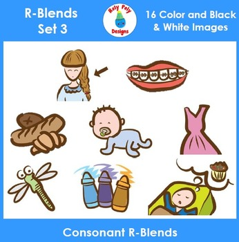 R-Blend Phonics Clip Art Set 3