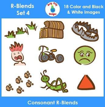 R-Blend Phonics Clip Art Set 4